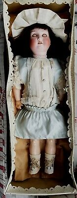 Spectacular Antique Bisque Germany doll Orginal factory dress & box