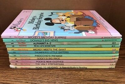 Mix Lot of 11 Walt Disney Mickey's Young Readers Library & Fun to Read Library