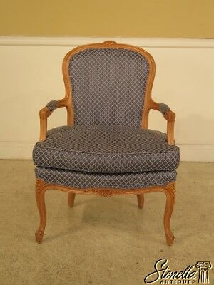 29011: French Louis XV Style Open Arm Fauteuil Chair