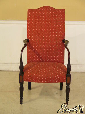 40051: High Quality Custom Made Vintage Mahogany Lolling Chair