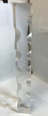Vintage Mid Century Modern Lucite Acrylic Tall Sculpture - signed