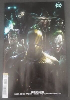 Deathstroke 36 NM Francesco MATTINA cover B variant DC COMICS Cgc Ready 1 Rare