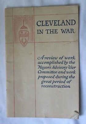 Wwi Cleveland In The War Review Of Work By Mayors Advisory War Committee Book