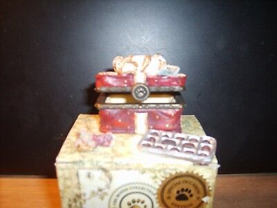 Boyds Treasure Boxes  #82030 SWEETCHEEKS Box o Chocolates 3 piece set FINAL LIST