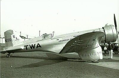 Northrop - Twa Racing Airplane Lot #42 Black & W Hite 5 X 7 Photograph