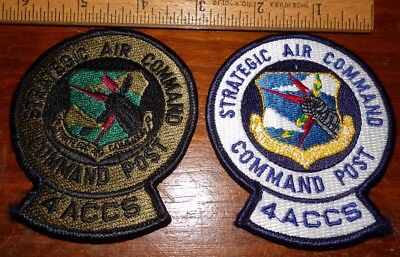 ORIGINAL USAF PATCH - 4th ACCS STRATEGIC AIR COMMAND COMMAND POST - 2 PATCHES