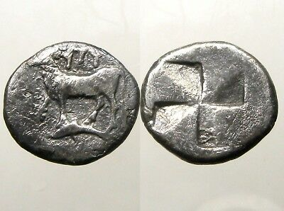 BYZANTION THRACE SILVER SIGLOS___Heifer Standing On Dolphin___LOST TO ALEXANDER