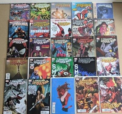 Amazing Spider Man Comics Huge Lot 25 Comic Book Collection Set Run Books Box 4