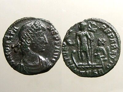 CONSTANS BRONZE AE3___Youngest Son of Constantine the Great___GALLEY & PHOENIX