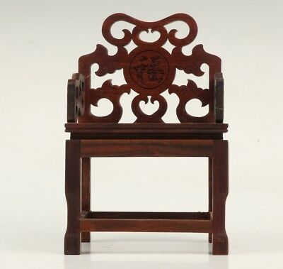 Vintage Chinese Wood Stools Old Hand-Carved Decorative Patterns Collection