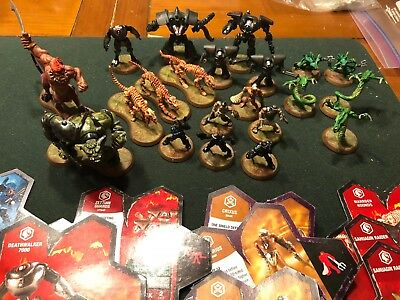 Lot of HEROSCAPE Game Parts Miniature Figures & Cards