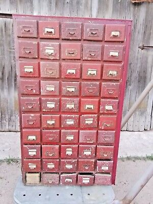 Antique Vintage 50 Drawer Wood Parts Cabinet