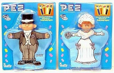 PEZ Bride and Groom Hand Puppet Set