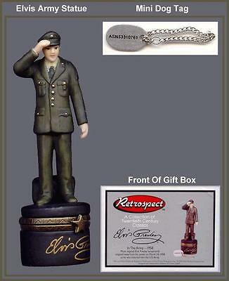 Elvis Presley In the Army PHB Porcelain Hinged Box Miniature Statue Midwest