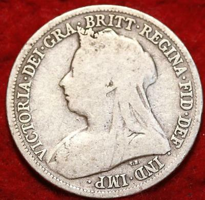 1896 Great Britain 1 Shilling Silver Foreign Coin