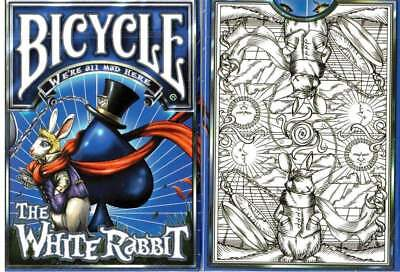 White Rabbit Bicycle Playing Cards Poker Size Deck USPCC Custom New Sealed