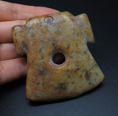 Very Rare Antique Stone Age Jasper Axe Statue