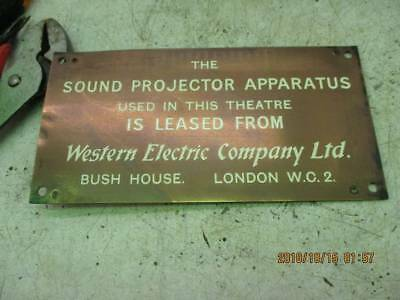 1  western electric westex electric  sign