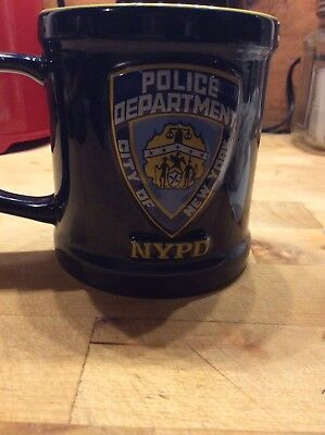 NYPD Police  Department City Of New York Coffee Tea Blue Yellow Mug 2006