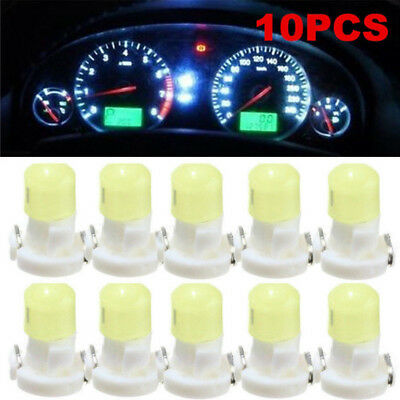 10PCS T3 Neo Wedge LED Instrument Cluster Dash Panel Climate White Lights Bulbs