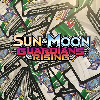50 Guardians Rising Codes Pokemon TCG Online Booster in Game