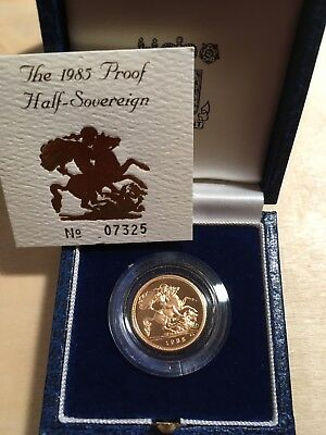 "1985 British Royal Mint Half Sovereign Gold Coin: ""St George Slays The Dragon""!"