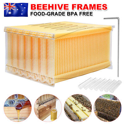 7PCS Upgraded Auto Flow Honey Beehive Bee Comb Hive Frames Beekeeping Harvesting