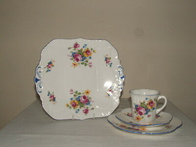 Shelley Art Deco Dainty Handpainted Rose Bouquets Tea China Truly Stunning