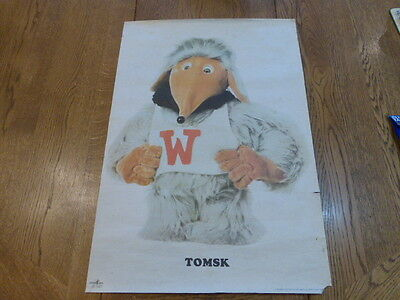Wombles Poster 1974 Rare Collectable Poster of Tomsk