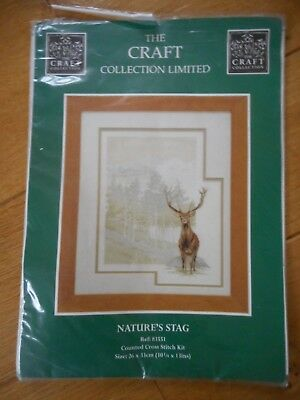 Nature's Stag -  Cross Stitch Kit by The Craft Collection