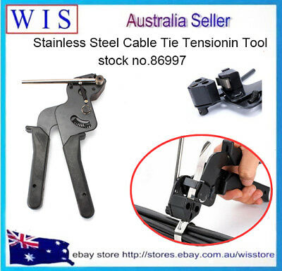 Heavy Duty Stainless Steel Cable Tie Tensioning Tool Trigger Cutter Tool-86997