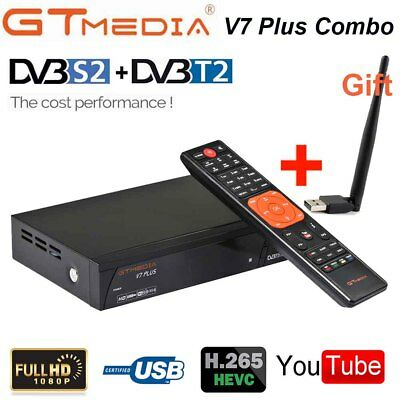 DVB-T2+S2 Digital Satellite Receiver Combo Full HD 1080P H.265 Receptor+USB WIFI