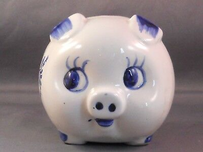 Piggy Bank--blue and white--Opryland
