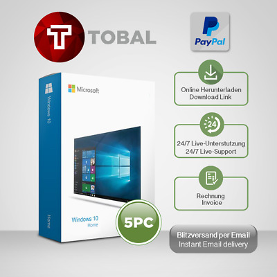 Windows 7, 8.1, 10 Home Prem, Pro, Ultimate (1-5 PC) OEM, produkt-key per email