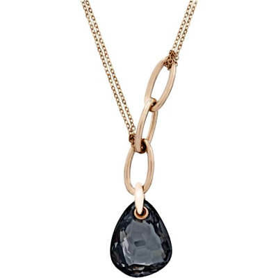 Swarovski 5119503 Parallele Rose Gold Mini Black Crystal Pendant