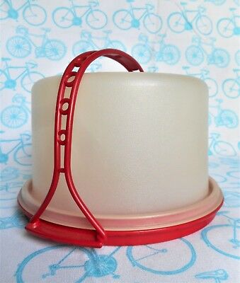Vintage Tupperware Tupper Toys Tuppertoys Cake Taker Carrier Plate Container Set