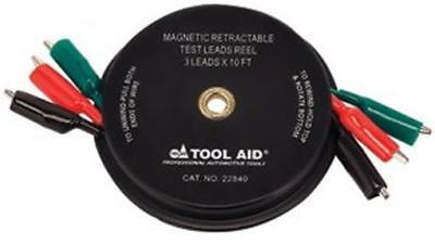 S & G Tool Aid TA22840 10 ft. x Leads Magnetic Retractable Test Leads Reel-3