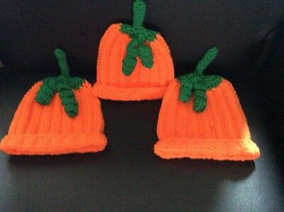 🎃🎃 BRAND NEW CROCHET BABY PUMPKIN HAT/ BEANIE 1 + years  HALLOWEEN ???🎃🎃🎃🎃