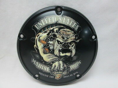 Harley Davidson Custom 5 Hole Derby Cover - USMC Release The Dogs Of War