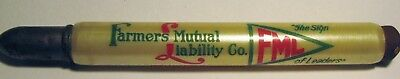 "Vintage Advertising ""Farmers Mutual Liability Co"" Indianapolis In. BULLET Pencil"