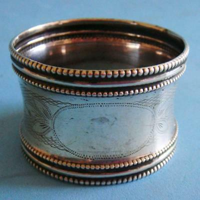 L@@k Beautiful Antique Sterling SILVER Ornate Engraving French Napkin Ring!