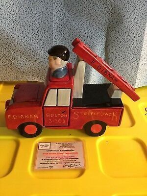 Lorna Bailey - Fred Dibnah MBE - Red Lanny - Original Limited Edition 30 of 100