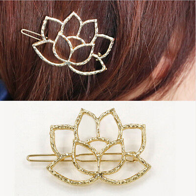 Minimalist Lotus Flower Retro Yoga Pilates Hairpin Hair Clips Gift Accessory CB