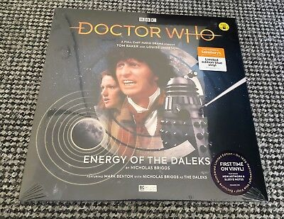 Dr Doctor Who ENERGY OF THE DALEKS Blue Vinyl TOM BAKER Sainsbury's EXCLUSIVE!