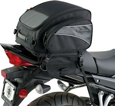 Nelson-Rigg CL-1040-TP - Jumbo Motorcycle Tail Bag Luggage - Black
