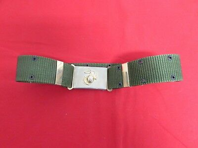 1980's USMC size large pistol belt with EGA buckle maybe a DI rig not sure.