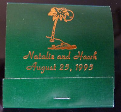 Natalie And Hawk August 25, 1995 Matchbook Intact Mint