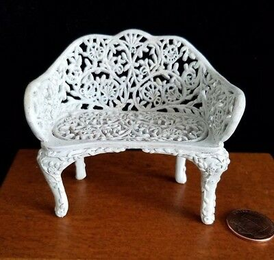 Dollhouse Miniatures Willitts Take A Seat By Raine Garden Bench 1:12