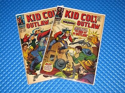 Kid Colt Outlaw Lot of 2 #136,138 Silver Age Marvel Western Comics Intruders!