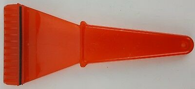 Red Plastic Ice Scraper Heavy Duty Rubber Squeegee Back Strip